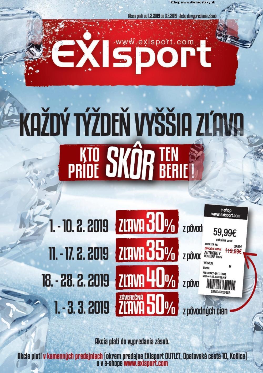 Leták EXIsport - strana 1