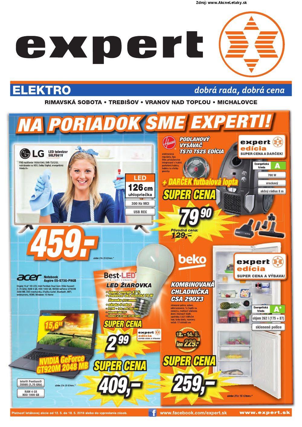 Leták Expert Elektro - strana 1