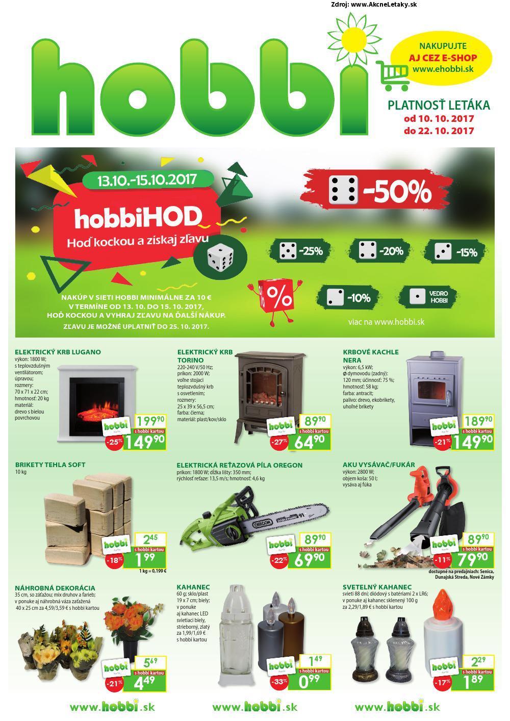 Leták Hobbi - strana 1