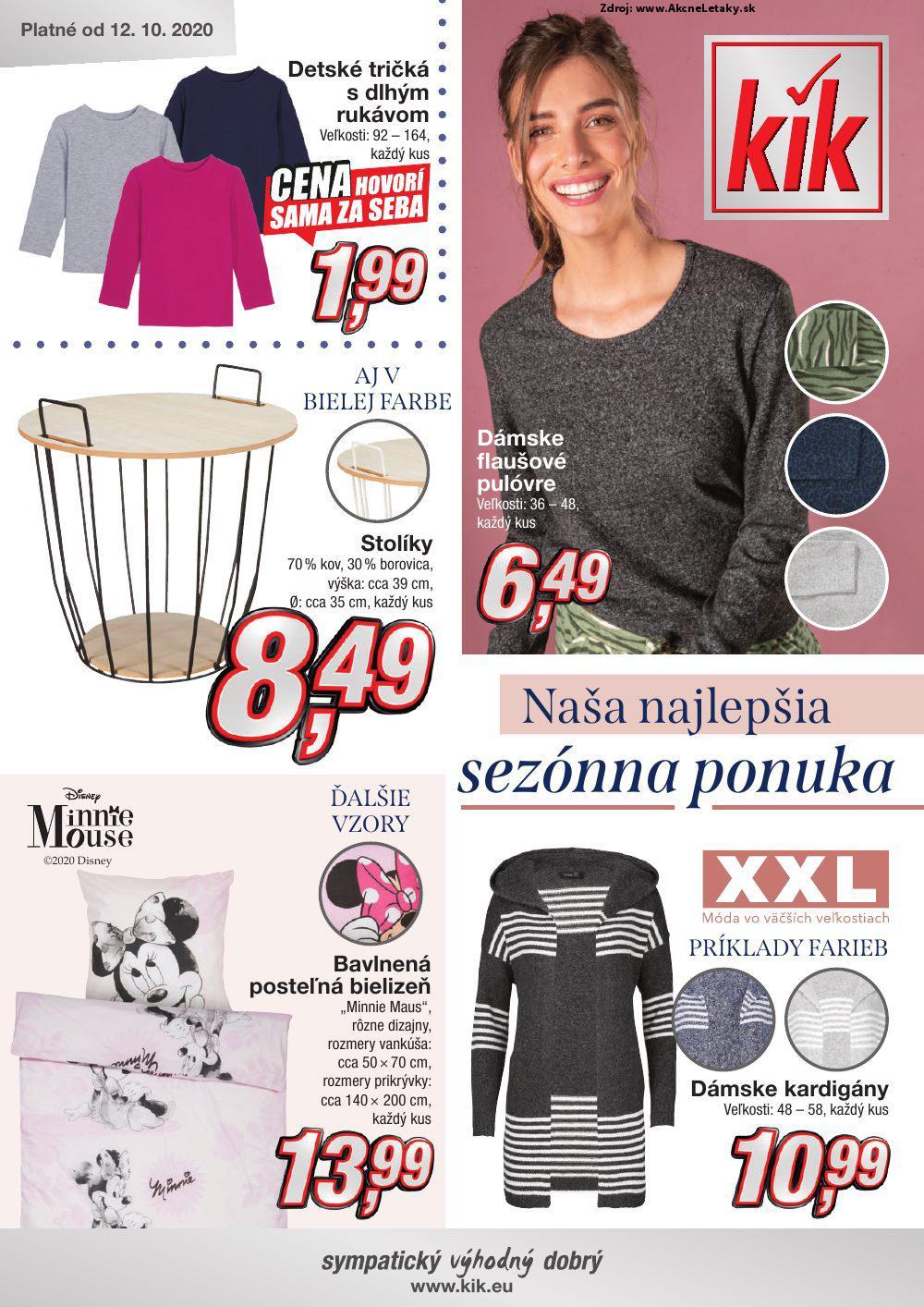 Leták KiK - strana 1